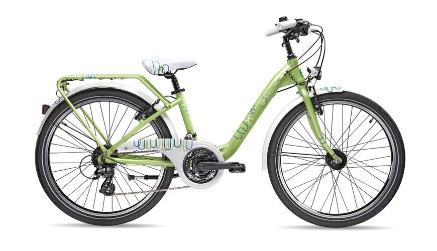 """s'cool chiX pro 24-24 - Bicicletas para niños - 24"""" verde"""